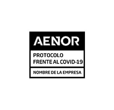 Logotipo de Certificación AENOR de protocolos frente al COVID-19