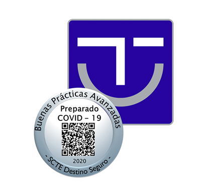 Logotipo del Distintivo Preparado frente a la covid19 del SICTED
